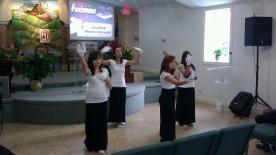 Pantomime honoring the Holy Spirit