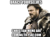 Funny Christian meme are coming toYI4C